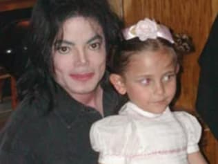 Paris Jackson as a young child with dad Michael. Source: Supplied