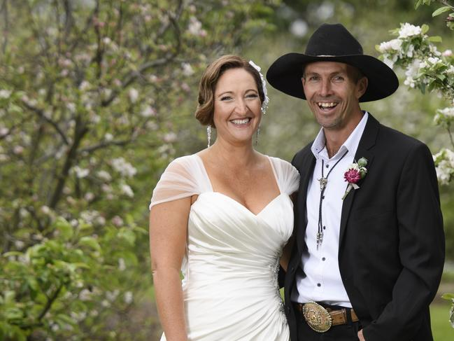 Susan Rawlings with her MAFS husband Sean Hollands. Picture: Channel 9