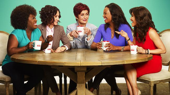 The Talk: Sheryl Underwood, Sara Gilbert, Sharon Osbourne, Aisha Tyler and Julie Chen.