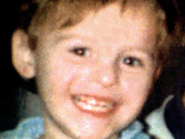 British child infant murder victim James Bulger. Picture: News Limited