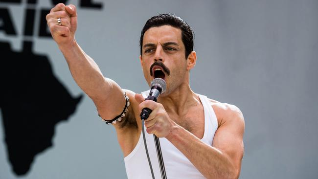 Rami Malek stars as Freddie Mercury in Bohemian Rhapsody. Picture: Alex Bailey