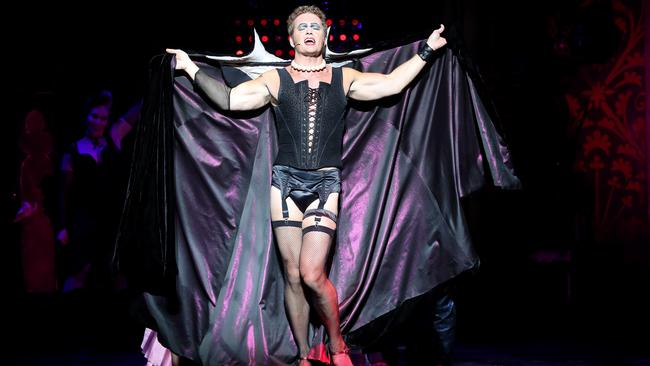 McLachlan dressed as Frank-N-Furter in the Rocky Horror stage show. Picture: Calum Robertson