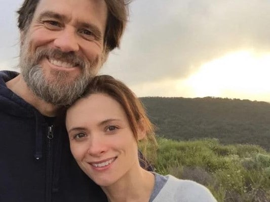 Jim Carrey and his ex-girlfriend, Cathriona, who died aged 30 in 2015.