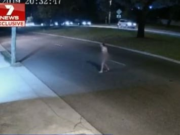 Police were called about a naked man with stab wounds about 8.30 on Friday night. Picture: 7 News