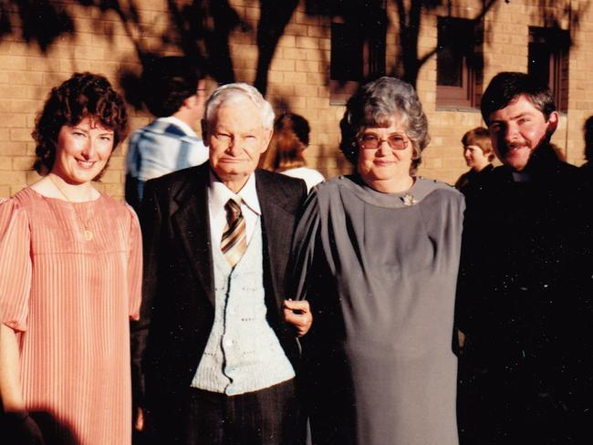 My very proud parents, with me and Michael, taken just after Michael's Ordination in Engadine, March 7, 1987. Picture: Courtesy of the Aulsebrook and Harrod family archives.
