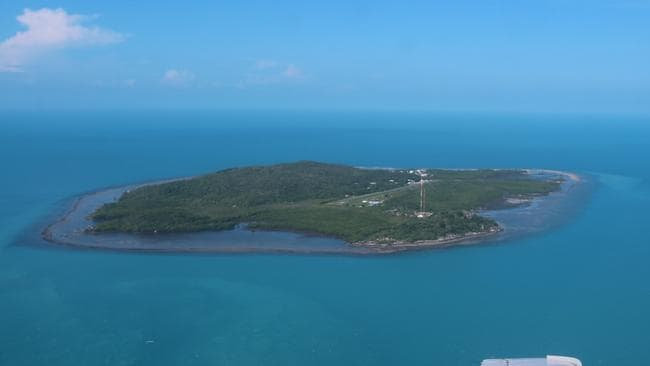 Aerial photo of Yam Island in the Torres Strait. PICTURE: CHRIS CALCINO