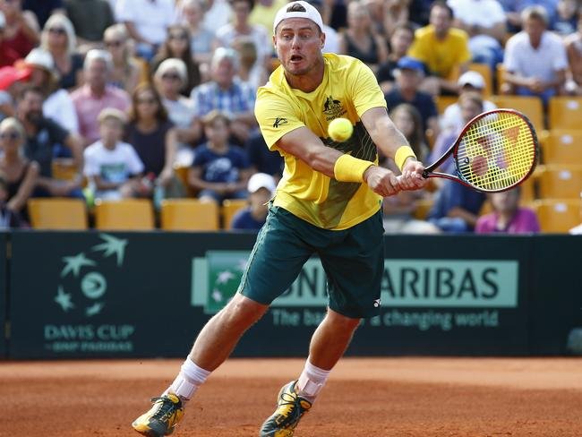 Australia's captain Lleyton Hewitt turns back the clock in Austria. Picture: AFP