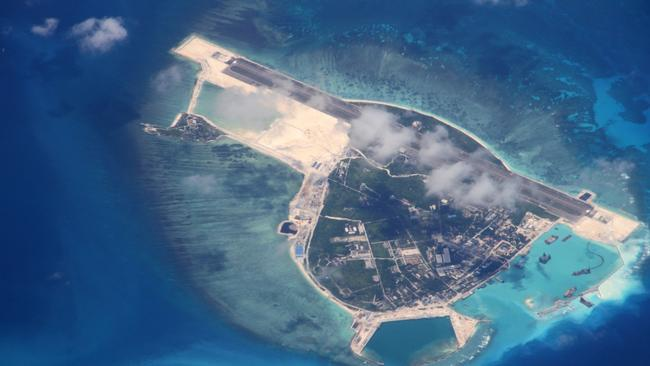 Islands in the South China Sea like Yongxing, also known as Woody Island, have become a potential flashpoint between the US and China. Picture: VCG/VCG via Getty Images