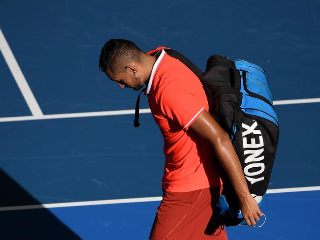 Nick Kyrgios suffered a huge loss at the Brisbane International.
