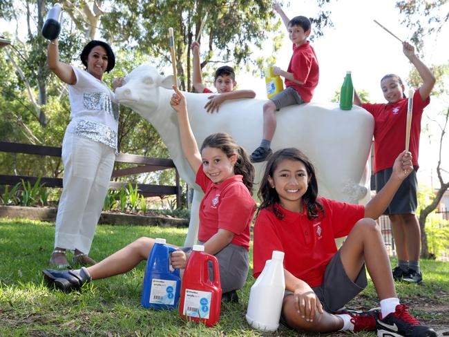 Canterbury South Public School Year 5/6M students. Picture: Craig Wilson