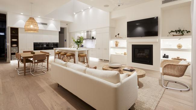 The judges were blown away by Andy and Deb's living and dining room. Picture: Channel 9/The Block