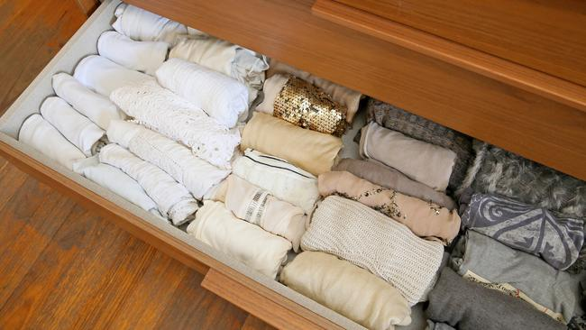 Keeping your drawers like this is surprisingly easy. Picture: Troy Snook