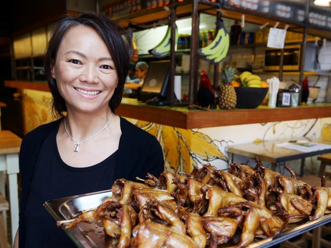 Ms Chu in happier times at her Bondi restaurant, which has closed.
