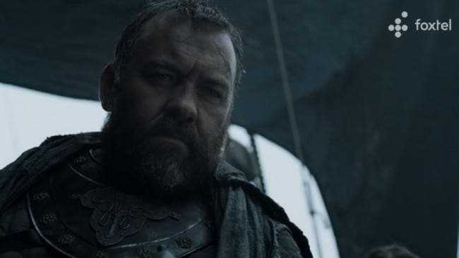 Brendan Cowell on Game of Thrones. Picture: Foxtel