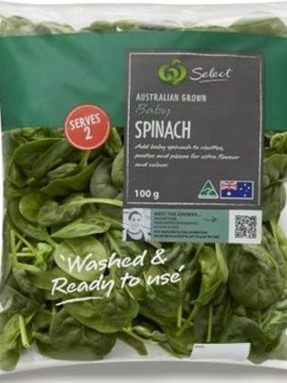 Recalled bagged spinach