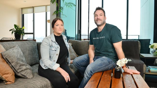 Holly Gibson and partner Marty Brokenshire rent in Richmond. Picture: Nicki Connolly