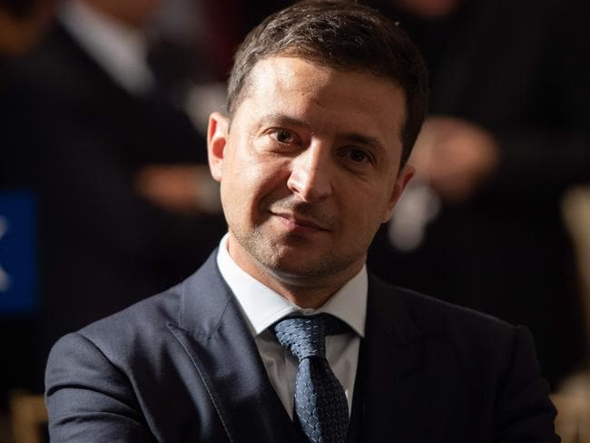 Ukrainian President Volodymyr Zelensky was allegedly asked by Mr Trump to investigate Joe Biden and his son, Hunter. Picture: AFP