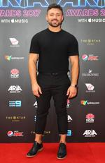 Alfie Arcuri arrives on the red carpet for the 31st Annual ARIA Awards 2017 at The Star on November 28, 2017 in Sydney, Australia. Picture: Getty