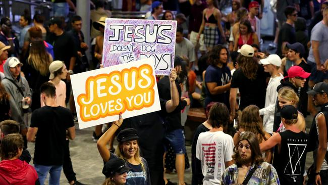 Youth for Christ Australia are big proponents of the banners bringing people closer to God theory. Picture AAP/David Clark