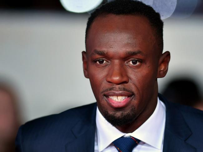 "Usain Bolt at this week's world premiere of ""I Am Bolt"" in London."
