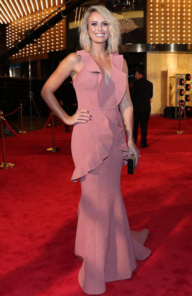 Television presenter Sylvia Jeffreys at the 2017 Logie Awards at the Crown Casino. Picture: AAP