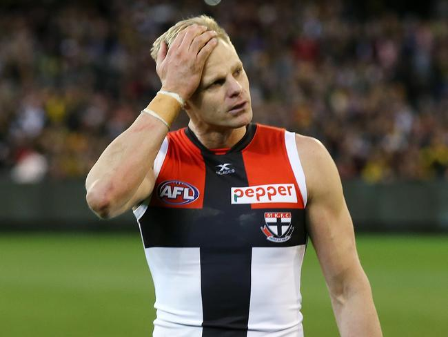 St Kilda legend Nick Riewoldt after playing his final game at the MCG. Picture: Michael Klein