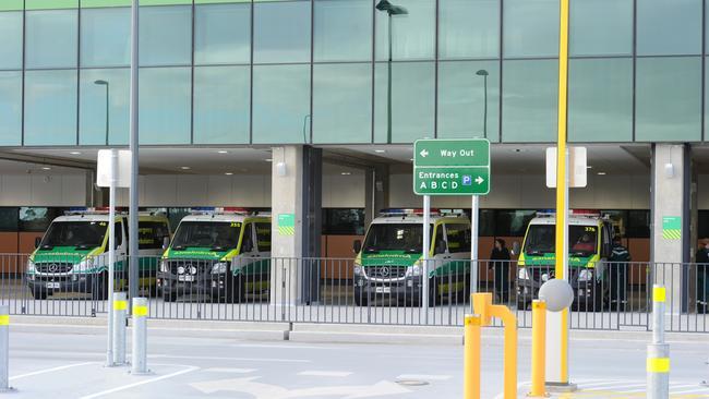 Ambulances ramping at Royal Adelaide Hospital