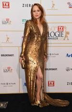 Mandy McElhinney arrives at the 2018 Logie Awards at The Star Casino on the Gold Coast, Sunday, July 1, 2018. Picture: AAP Image/Dan Peled