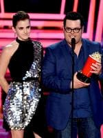 Emma Watson and Josh Gad accept Movie of the Year for 'Beauty and the Beast' onstage during the 2017 MTV Movie And TV Awards at The Shrine Auditorium on May 7, 2017 in Los Angeles, California. Picture: Getty