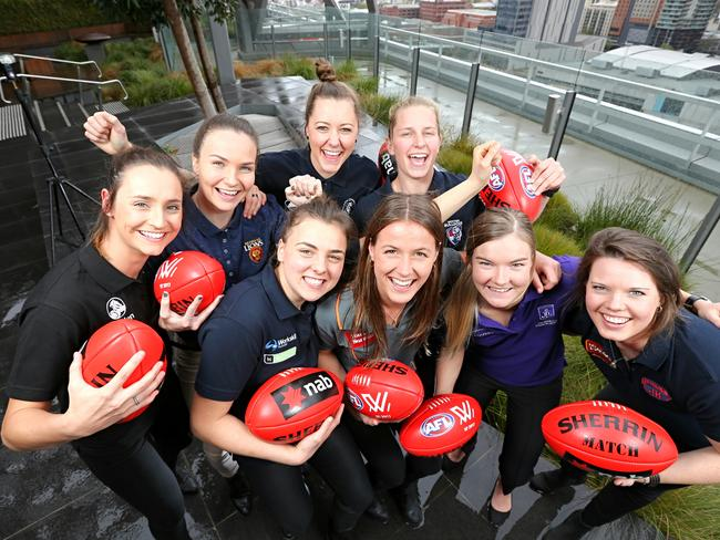 The 2017 AFLW first round draft picks. Picture: Tim Carrafa