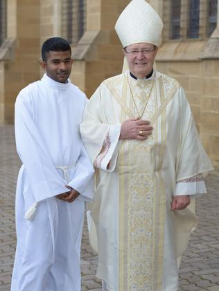 Chathura Silva is also 28 and looks forward to a career in the Catholic Church. Picture: Supplied