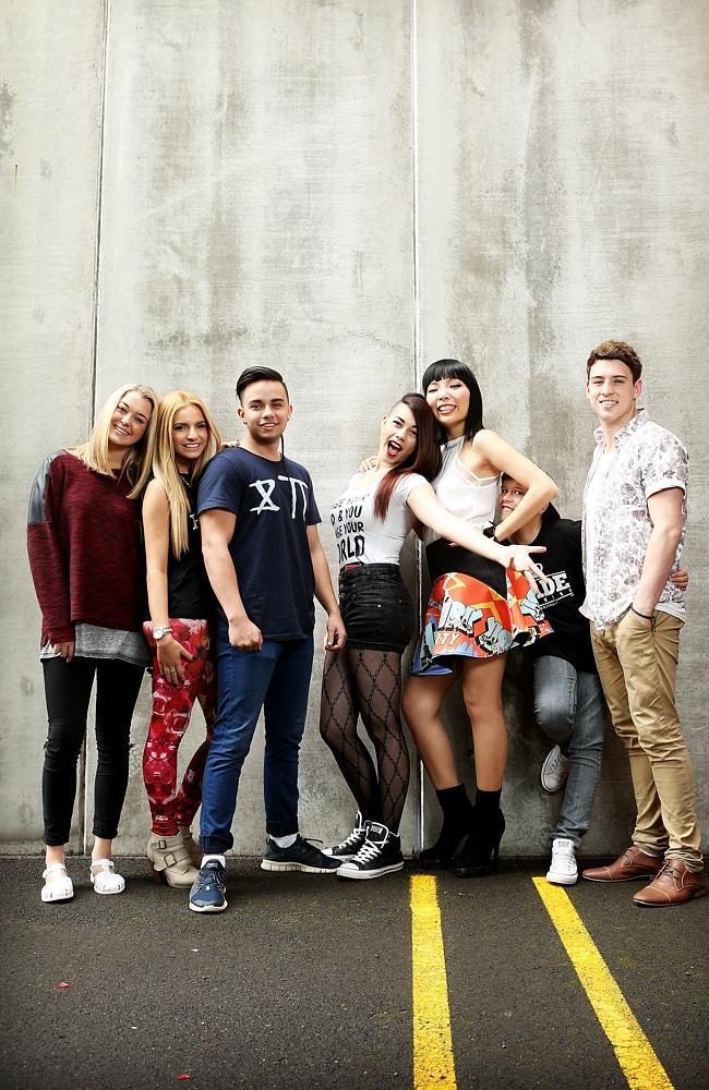 winner Dami Im with the other top five contestants - Taylor Henderson, Jai Waetford, Third D3gree and Jiordan Tolli - at rehearsals for their live shows around Australia.