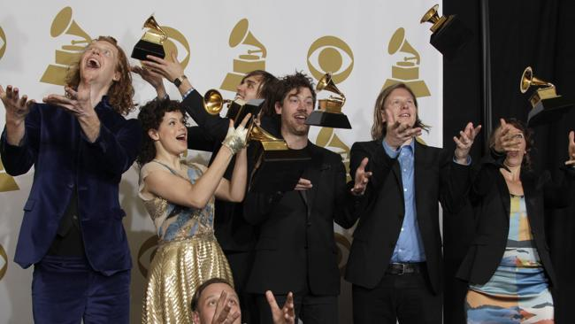 Canadian band Arcade Fire graduate to headliners for the 2014 Big Day Out (AP Photo/Jae C. Hong)