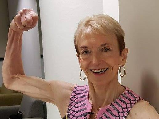 Janice started body building after her retirement, at 55 years old. Picture: Facebook/JaniceLorraine
