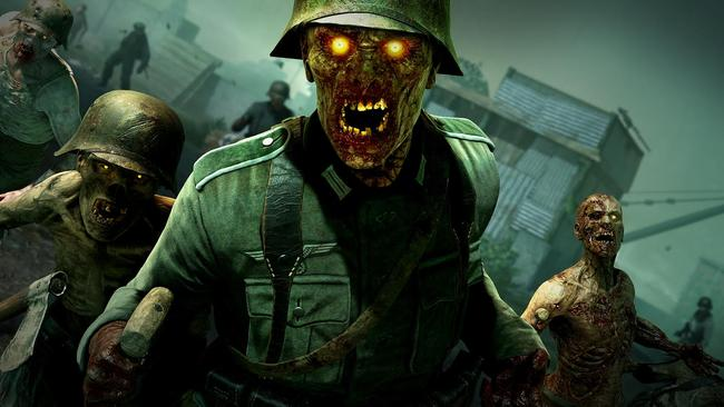 There are four playable characters in the game, meaning you and up to three friends can team up to fight undead Nazis.