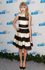 Singer Taylor Swift attends KIIS FM's 2012 Jingle Ball in a Kate Spade dress. Picture: Imeh Akpanudosen/Getty Images