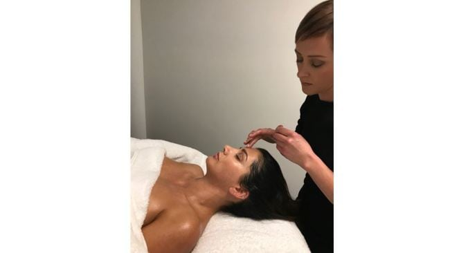 Image: Supplied. Oz Beauty Expert. Glowing skin at the end of the treatment.