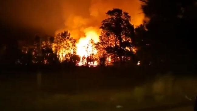 The blaze in Doyalson, in NSW's Central Coast is now under control. Picture: CC365 Youtube