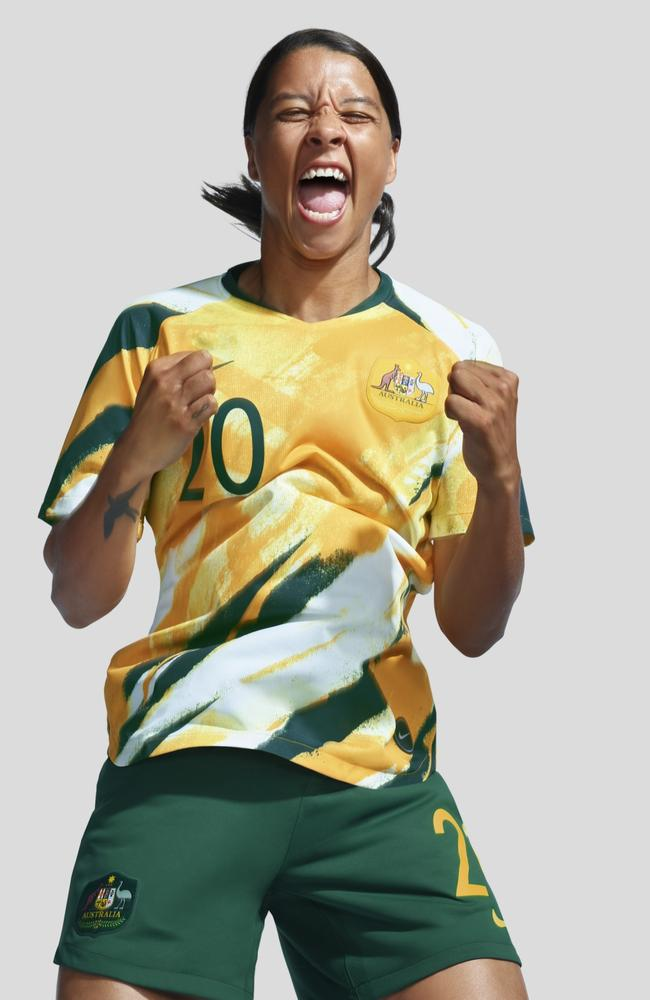 The kit the Matildas will play in at the World Cup.
