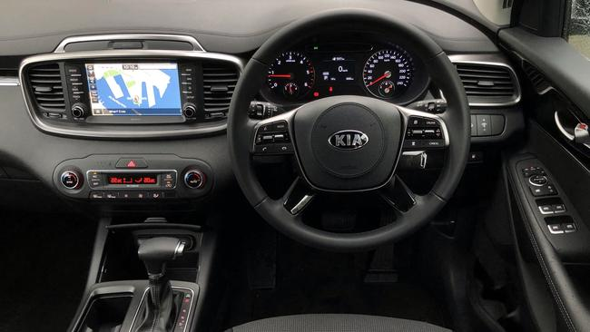 """Most mod cons are covered inside, including Apple Car Play, Android Auto, built-in nav, a digital speedo, dual zone aircon, and one-touch """"express up"""" windows on all four doors. Picture: Joshua Dowling."""