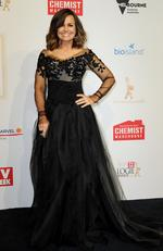 Lisa Wilkinson arrives on the red carpet at the 59th annual TV Week Logie Awards on April 23, 2017 at the Crown Casino in Melbourne, Australia. Picture: AAP