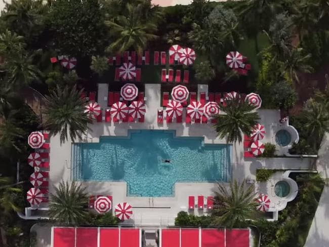 The resort includes a luxury pool. Picture: YouTube/Faena