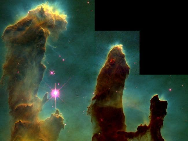 The Hubble telescope in 1995 an image of the universe so clear and deep that it has come to be known as Pillars of Creation. Picture: NASA, File