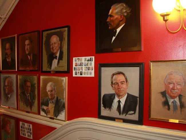 The staircases are lined with portraits of former and current members. Picture: Michael Gerbino