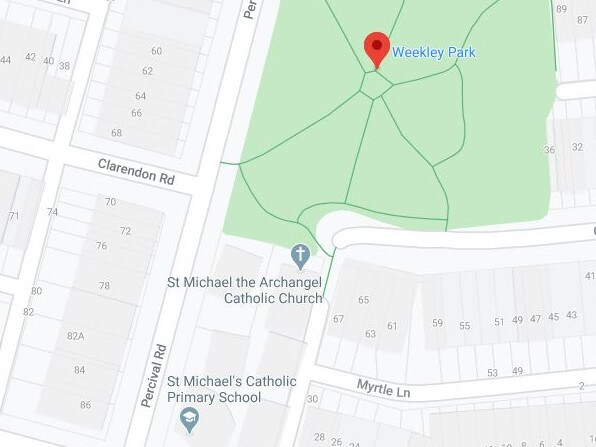 The park is right near St Michael's Catholic Primary School. Picture: Google Maps