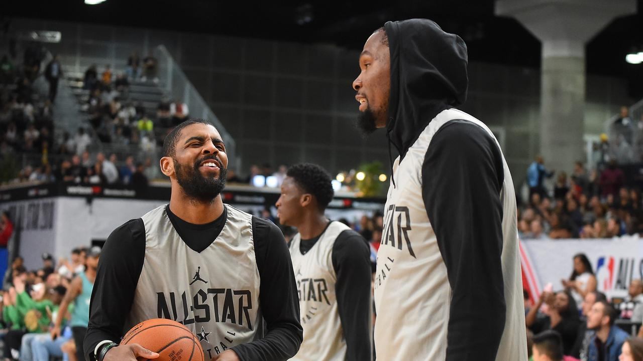 Kyrie Irving and Kevin Durant are All-Stars and friends.