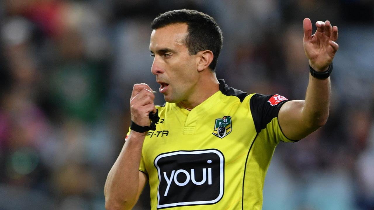Matt Cecchin and other referees have suffered under the unrelenting criticism from internet trolls. (AAP Image/Joel Carrett)