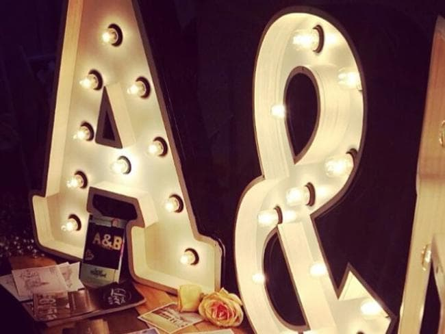 Fromage La Rue's marquee lights are a top seller for kids' bedrooms, retailing for $159.
