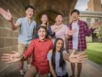 L-R Jack Li, Michel Nehme, Cherie Han, Tiger Lin, Madhavi Singh, Colin Hwang are all high-achievers who reached 99.95 ATAR scores at the University of Melbourne. Picture: Jason Edwards
