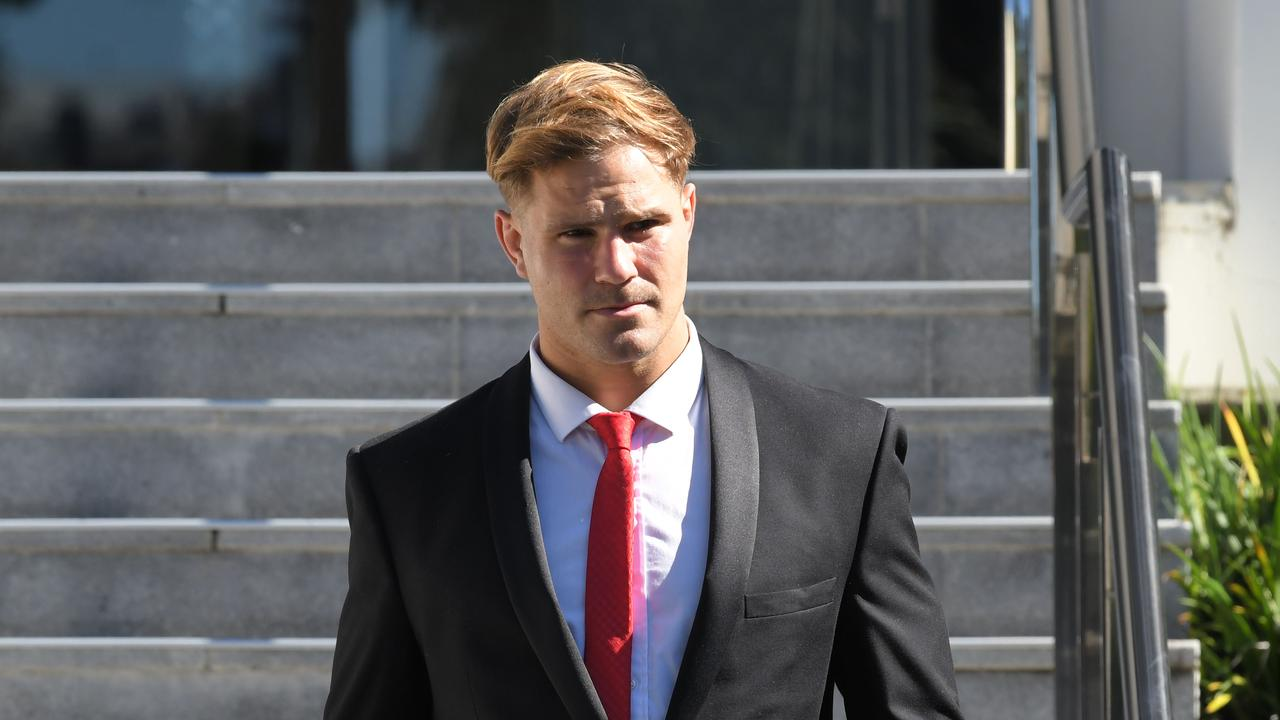 Jack De Belin leaves Wollongong court.